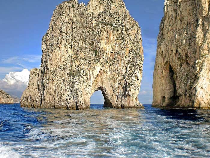 Faraglioni of Capri Island, Italy