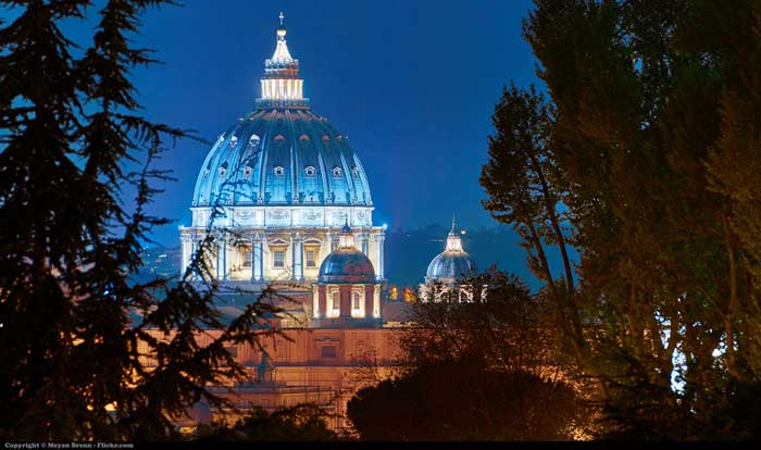 Saint Peter Dome from the Gianicolo hill, Rome