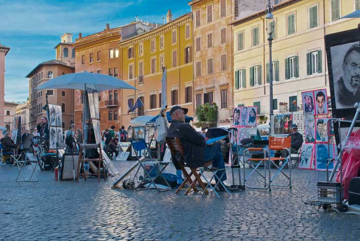 Artists in Piazza Navona, Rome