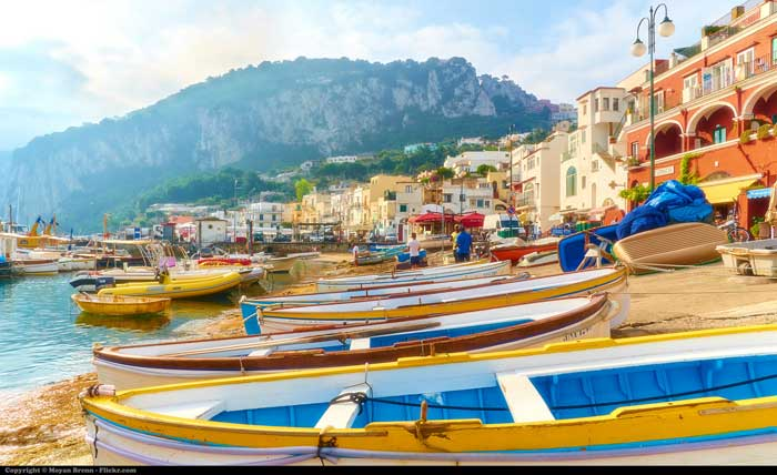 Harbor of Marina Grande, Capri Island