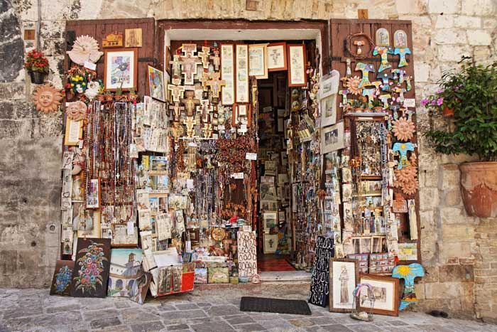 Gift Shop in Assisi, Birthplace of St. Francis