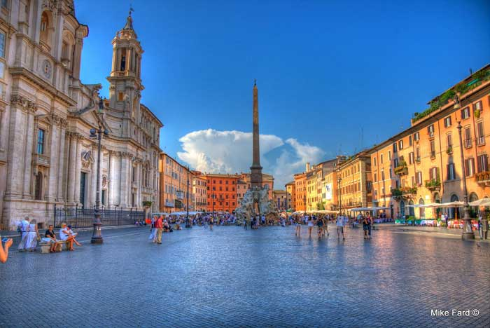 Colorful Interpretation of Piazza Navona