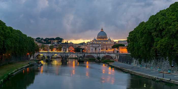 St Peter's Basiica and the Tiber