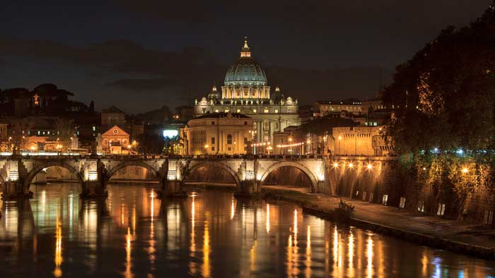 St Peter's Basilica from the Ponte Umberto