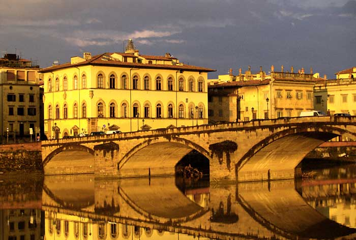 Ethereal Arch Reflections on the Arno River