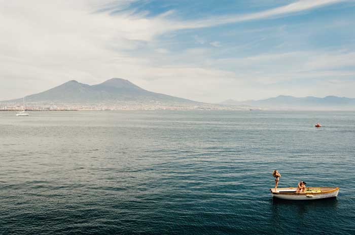 Majestic Mount Vesuvius Volcano, Gulf of Naples
