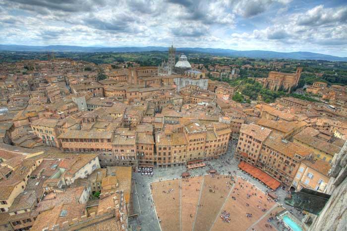 Siena Cityscape, Tuscany, Italy