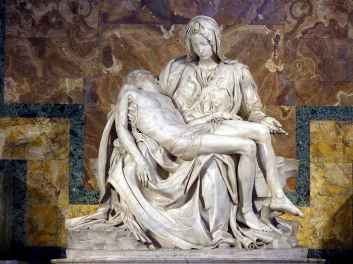 Michelangelo's Pietà,  St. Peter's Basilica, Vatican City