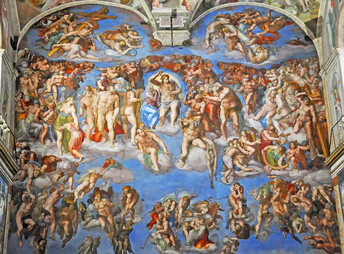 Michelangelo's Last Judgment, Sistine Chapel, Vatican