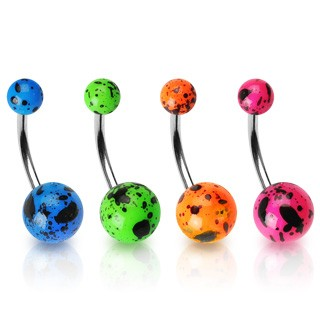 Splattered Paint Belly Rings