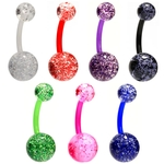7 Pack Flexible Glitter Belly Rings image