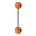 Basketball Tongue Ring image