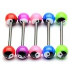 YinYang Barbell Tongue Ring image
