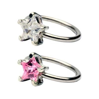 Star Gem Captive Bead Ring