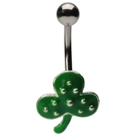 Shamrock Belly Button Ring image