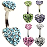 Double Hearts Belly Ring image
