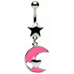 Moon Heart Star Belly Ring image