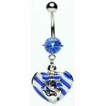 Sailing Heart Anchor Belly Ring image