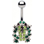 Multi Gem Frog Belly Ring image