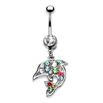Dolphin Belly Button Ring image