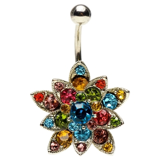 Petal Flower Hinged Belly Ring