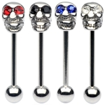 Stainless Steel Skull Barbell/Tongue Ring image