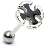 Iron Cross Barbell/Tongue Ring image