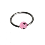 Pink Star Captive Bead Ring image