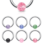 14 Gauge Captive Ring Glitter Ball image