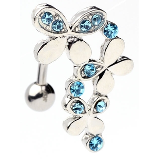 Triple Butterfly Top Down Belly Ring
