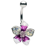 Hawaiian Flower Belly Ring image