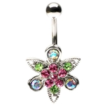 Fantasy Flower Belly Ring image
