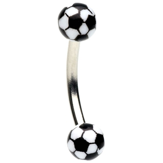 Soccer Ball Eyebrow Ring