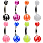 8 Pack Checkered Belly Rings image