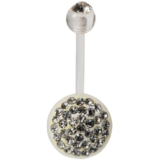 Crystal Clear Biopierce Belly Ring