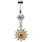 Sparkling Sunflower Belly Ring image