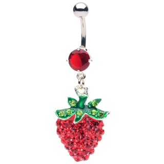 Strawberry Belly Button Ring