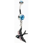 Beautiful Bird Belly Button Ring image