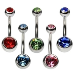 5 Pack Double Gem Belly Rings image