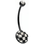 Biopierce Crystal Soccer Belly Button Ring image