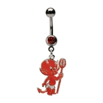 Dangling Baby Devil Belly Ring image