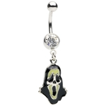 Glowing Grim Reaper Dangle Belly Ring image
