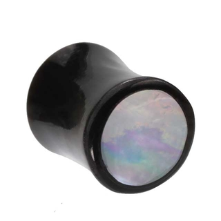 00 Gauge Mother Of Pearl Organic Plug