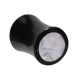 0 Gauge Mother Of Pearl Organic Horn Plug image