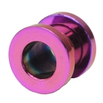 0 Gauge Purple Titanium Plated Flesh Tunnels image