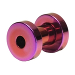 6 Gauge Purple Titanium Plated Flesh Tunnels image