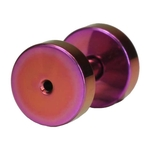 14 Gauge Purple Titanium Plated Flesh Tunnel image