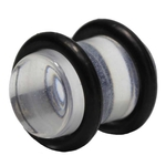 0 Gauge Clear UV Plugs with O-Rings image