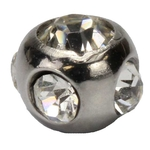 Multi Gemmed Replacement Ball Top - 16 Gauge image