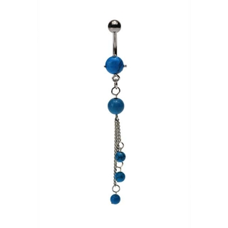 Turquoise Tri-Stone Dangling Belly Ring